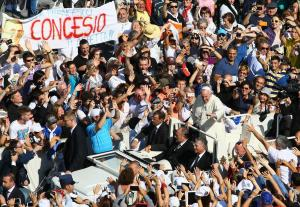 Beatification ceremony of Pope Paul VI who died in 1978, and the end of Vatican's synod on the family in Vatican City, Vatican on October 19, 2014.