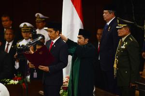 The inauguration  and swearing ceremony of Indonesian elected President Joko Widowo