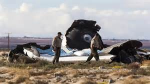 Galactic space tourism rocket, SpaceShipTwo, exploded and crashed ..