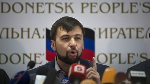 Donetsk People's Republic's (DPR) envoy at the Minsk peace talks Denis Pushilin