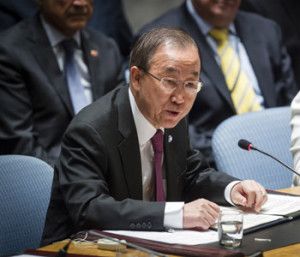 UN chief warned as he called on Security Council members to help the Yemeni people re-establish a legitimate government as soon as possible.