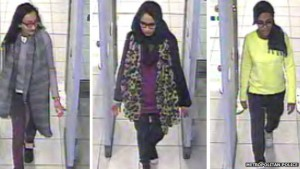 'Syria-bound' London girls CCTV captured the girls passing through security at Gatwick Airport