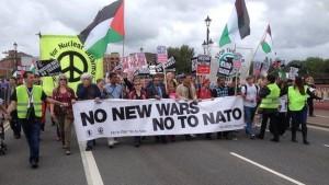 Anti-NATO protesters in Paris