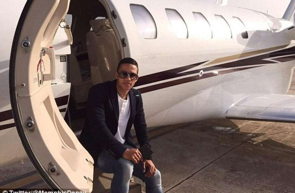 Image result for memphis depay private jet