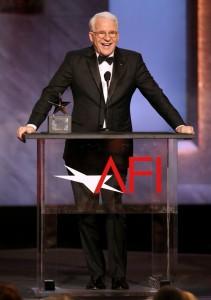 Honoree Steve Martin accepts his award at the 43rd AFI Lifetime Achievement Award Tribute Gala at the Dolby Theatre on Thursday, June 4, 2015, in Los Angeles
