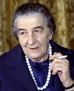 Israeli's Fourth Prime Minister, Golda Meir, from 1969-1974.