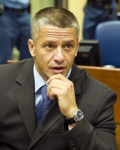 File-The commander of Bosnian Muslim forces in Srebrenica, Naser Oric, is pictured at the court house of the UN war crimes tribunal on July 3, 2008
