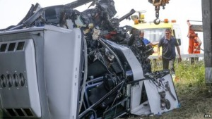 Thirty-four school pupils were on board the coach which crashed on a Belgian motorway