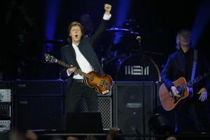 Former Beatles' member Paul McCartney performs on June 11, 2015 at the Stade de France in Saint-Denis near Paris