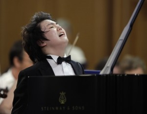 South Korean pianist Seong-Jin Cho, winner of 17th International Chopin Piano Competition stands