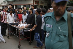 At least one person was killed and almost 90 others were injured on Saturday in a series of bomb blasts in front of a Shia shrine in Bangladesh where the members of the minority community had gathered for a procession to mark the holy day of Ashura.