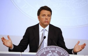 Italy's Prime Minister Matteo Renzi gestures as he talks during a news conference after a cabinet meeting at Chigi Palace in Rome, Italy, October 15, 2015.