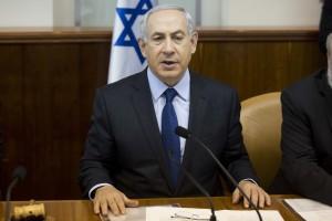 Israel's Prime Minister Benjamin Netanyahu chairs the weekly cabinet meeting in Jerusalem, Sunday, Nov. 8, 2015.