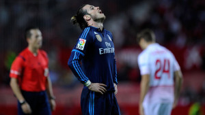Gareth Bale shows his frustration as Real lose to Sevilla.