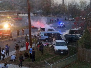 Authorities: 4 killed, others hurt in fiery Maryland crash