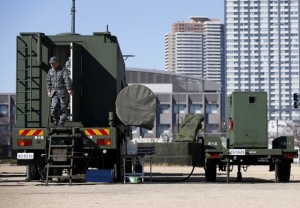 A Japanese Self-Defence Force's soldier is seen at the unit of Patriot Advanced Capability-3 (PAC-3) missiles at Defense Ministry in Tokyo February 7, 2016.