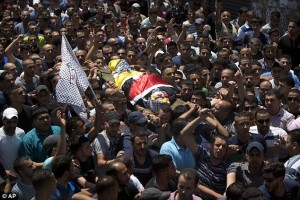 Palestinians carry the body of Mohammed Kosba, 17, during his funeral in the Qalandia refugee camp near the West Bank city of Ramallah