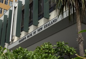 The facade of the Reserve Bank of New Zealand located in The Terrace, Wellington.