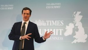Britain's Chancellor of the Exchequer, George Osborne, speaks at The Times CEO summit in London, Britain June 28, 2016.