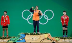 2016 Rio Olympics - Weightlifting - Victory Ceremony - Women's 48kg - Riocentro - Pavilion 2 - Rio de Janeiro, Brazil - 06/08/2016. Sopita Tanasan (THA) of Thailand poses with her medal.
