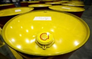 Filled oil drums are seen at Royal Dutch Shell Plc's lubricants blending plant in the town of Torzhok, north-west of Tver.
