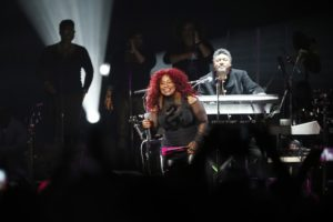 Chaka Khan performs during a tribute concert honoring the late musician Prince who died in April.