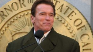 Trump raps Schwarzenegger at National Prayer Breakfast