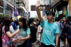 Hong Kong student leaders say they won't contest Occupy protest charge