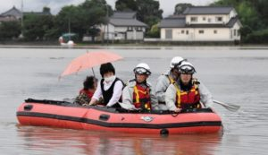 At least three hurt, 11 missing as heavy rain pounds Japan