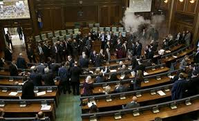 Kosovo opposition fires tear gas during parliament session
